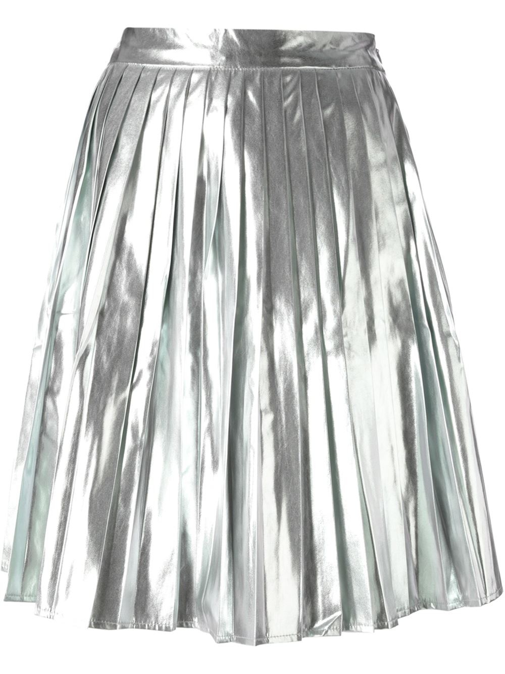 Silver Metallic Skirt 34