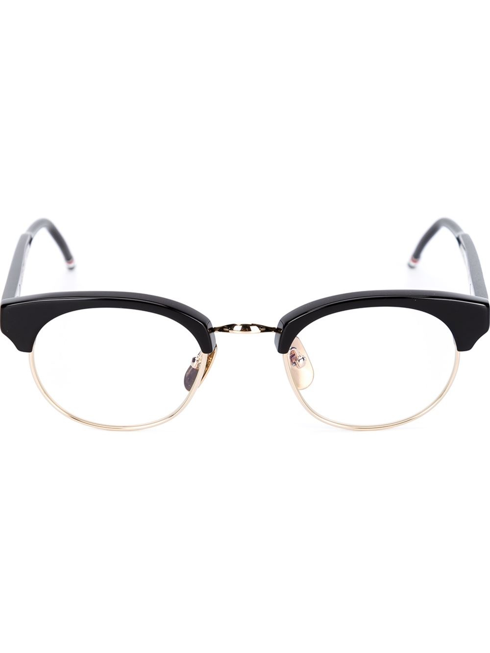 Thom Browne Half Frame Glasses in Black for Men Lyst