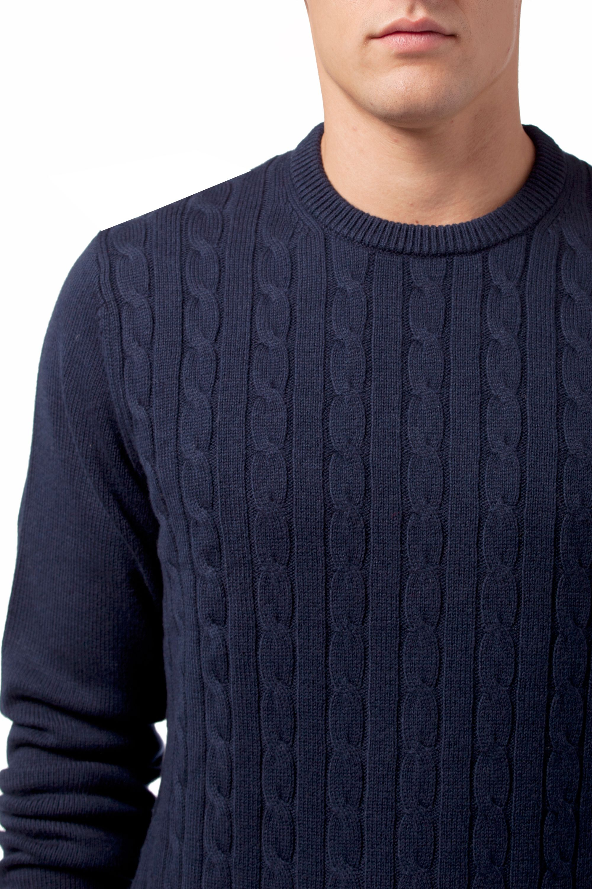 Tommy Hilfiger Niels Cable Knit Sweater In Blue For Men Lyst
