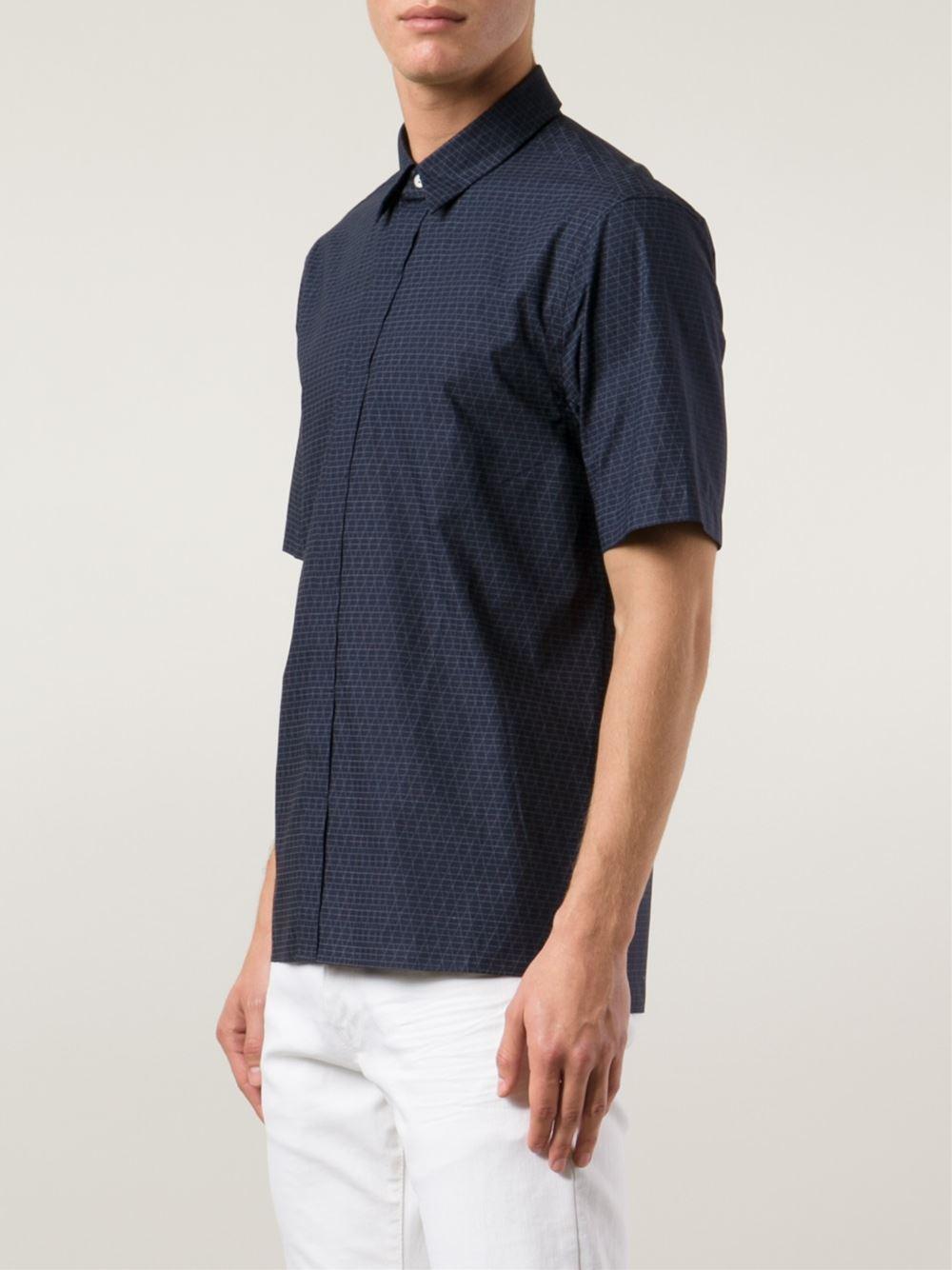 Rag bone 39 casper 39 shirt in blue for men lyst for Rag bone shirt