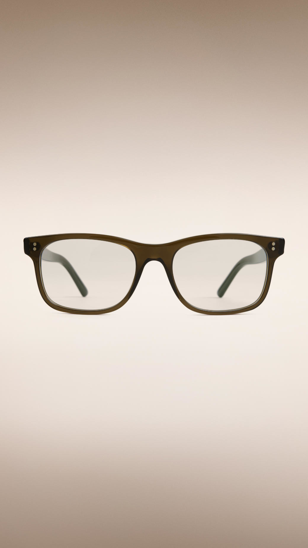 e29775c63bc0 Burberry Square Frame Sunglasses With Clip-on Lenses Olive in Black ...