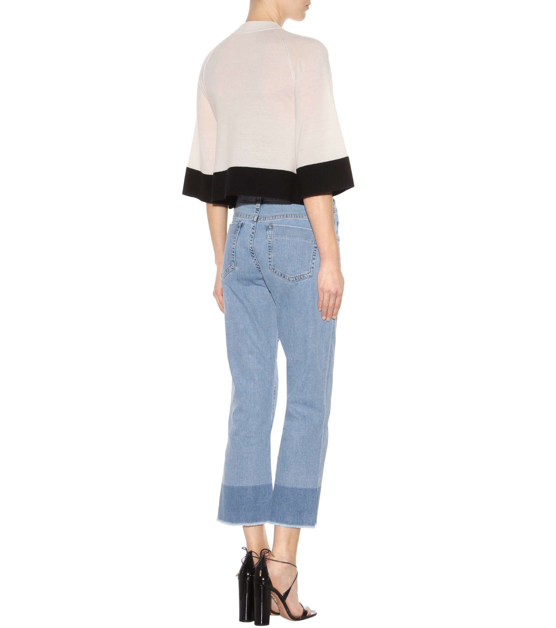 Cheap Sale Low Shipping 2018 Unisex Cheap Online Victoria Victoria Beckham flared cropped jeans Sale Shop Cheap Wholesale Cheap Best Store To Get xjUuW0