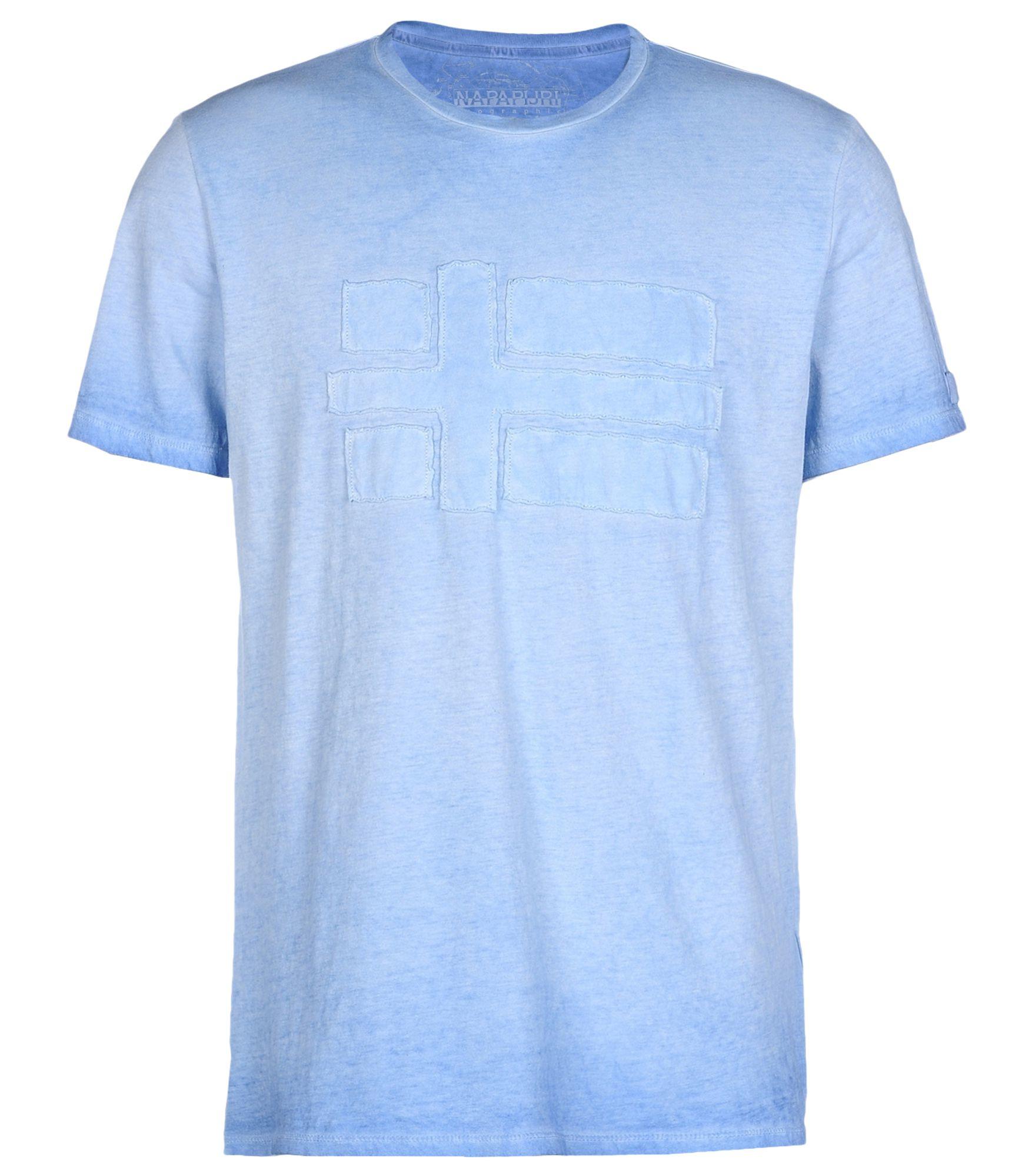 napapijri short sleeve t shirt in blue for men lyst. Black Bedroom Furniture Sets. Home Design Ideas
