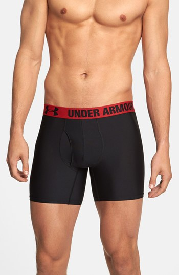 Under Armour Heatgear Boxer Briefs 2 Pack In Black For