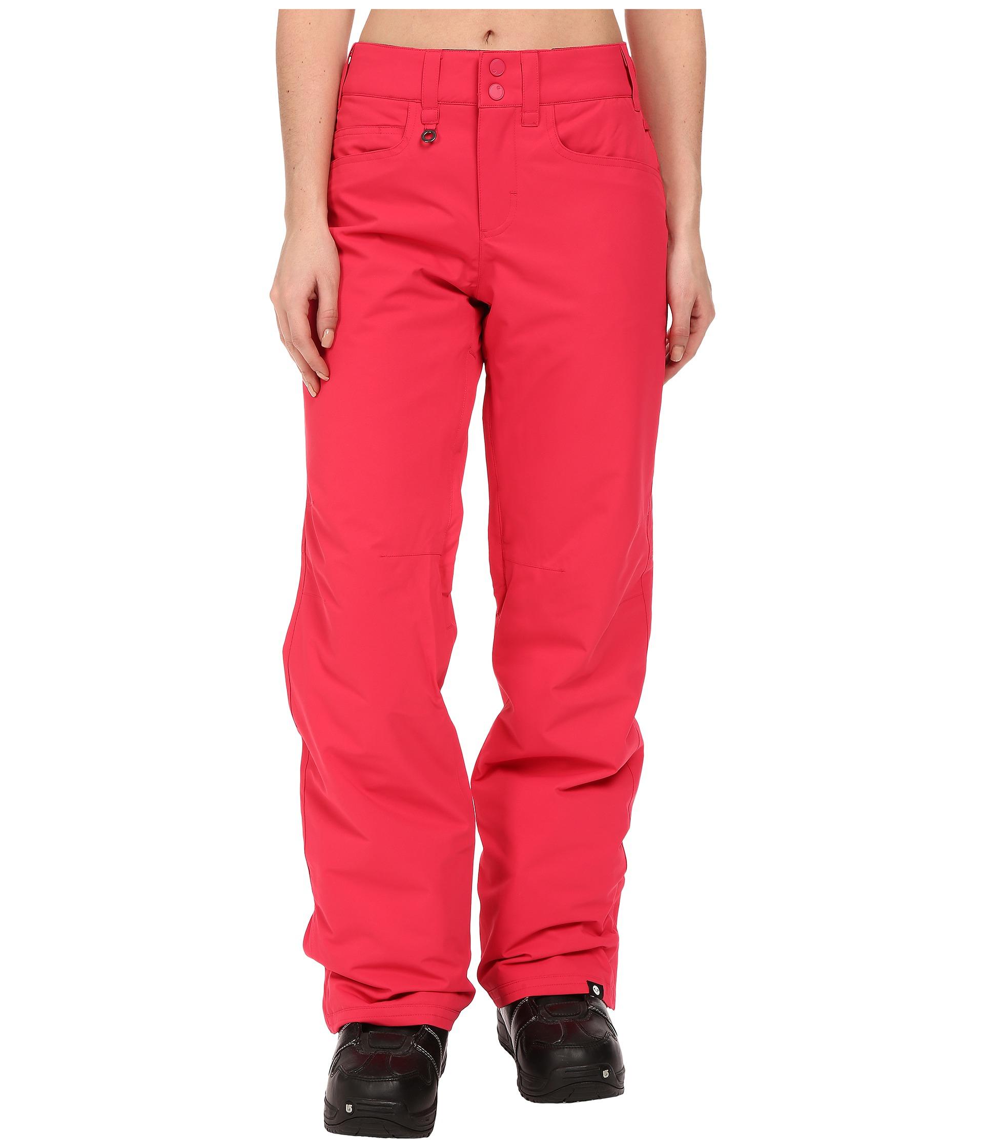 roxy backyard snow pants in pink lyst