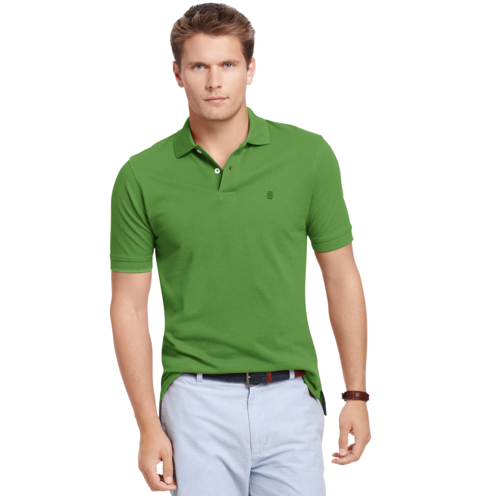 Lyst izod big and tall short sleeve solid pique polo for Izod big and tall essential solid shirt
