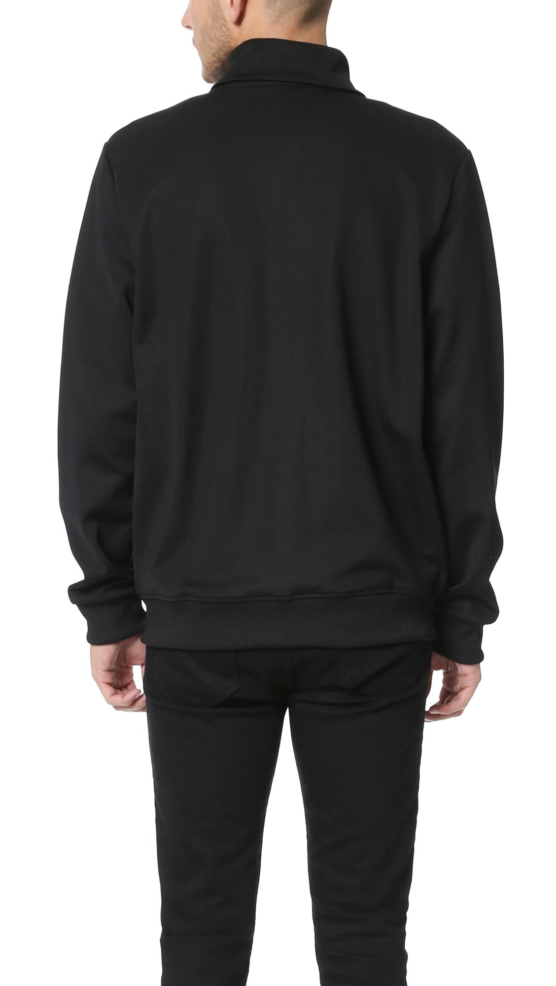 Stussy Track Jacket in Black for Men