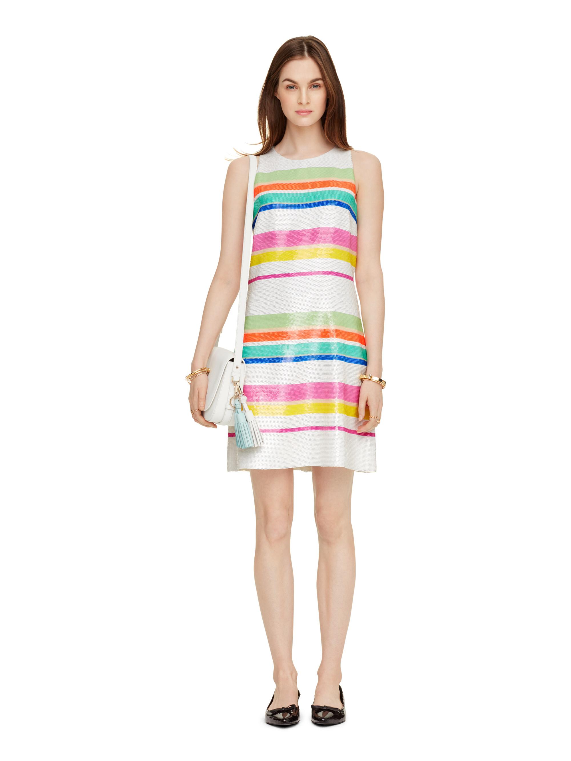 Lyst Kate Spade New York Cape Stripe Sequin Dress