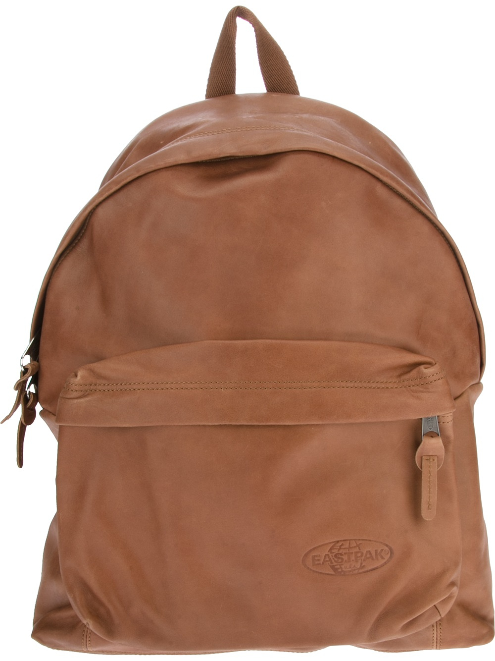 Leather Eastpak Backpack: Eastpak Classic Leather Backpack In Brown For Men