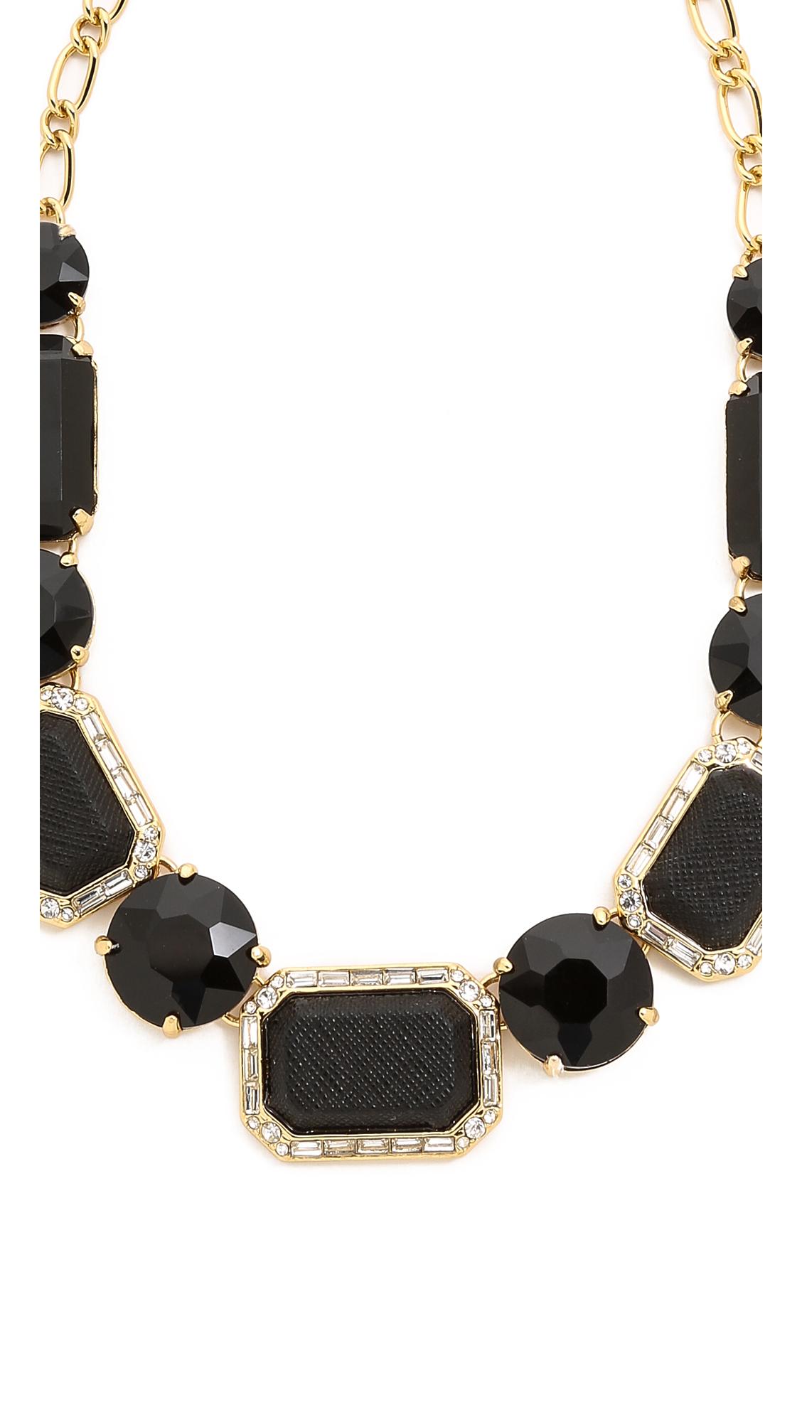 kate spade new york jackpot jewels necklace black in. Black Bedroom Furniture Sets. Home Design Ideas