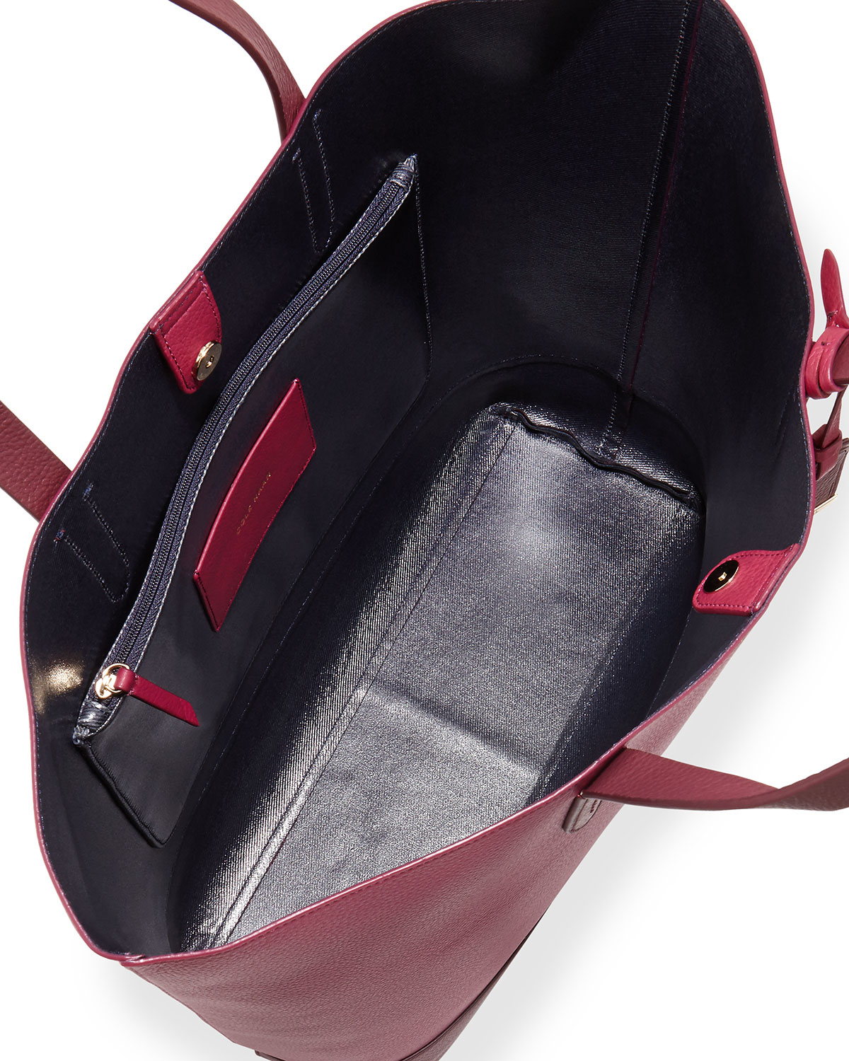 Cole Haan Large Two Tone Leather Tote Bag In Red Lyst
