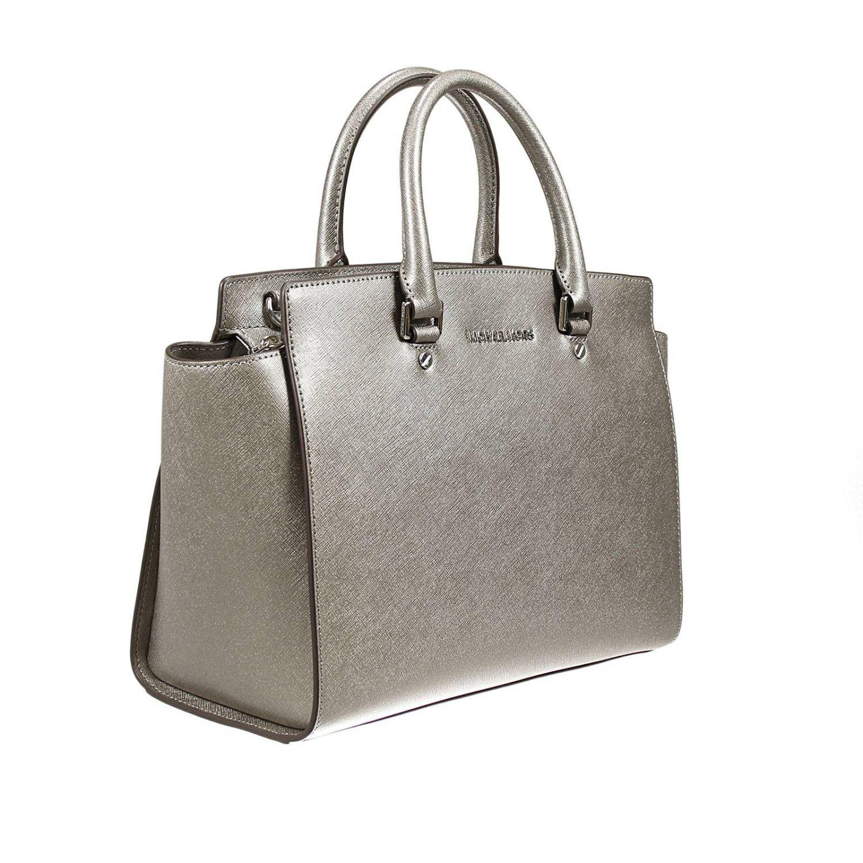 michael michael kors handbag in silver lyst. Black Bedroom Furniture Sets. Home Design Ideas