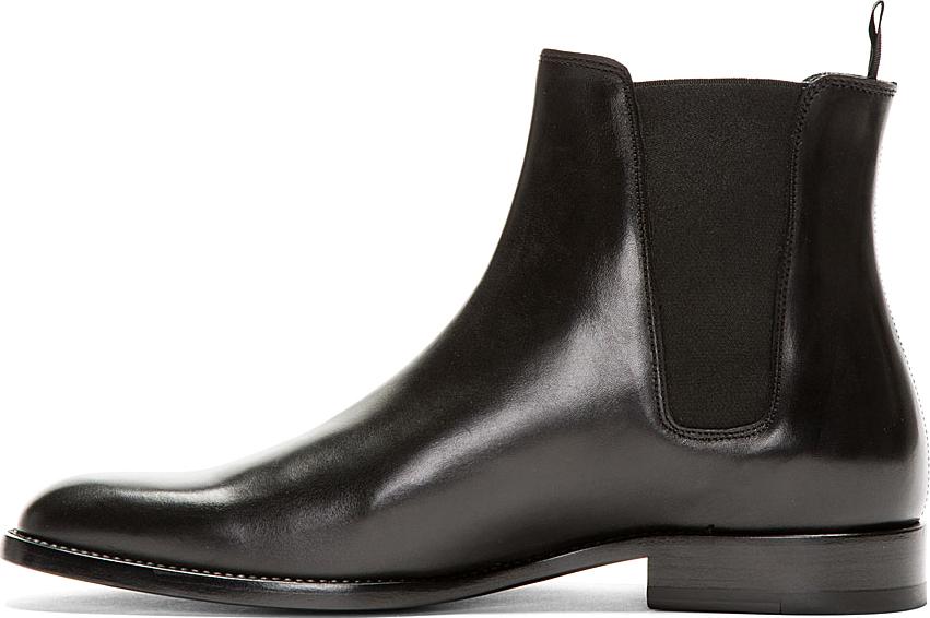 Lyst Saint Laurent Leather Chelsea Boots In Black For Men