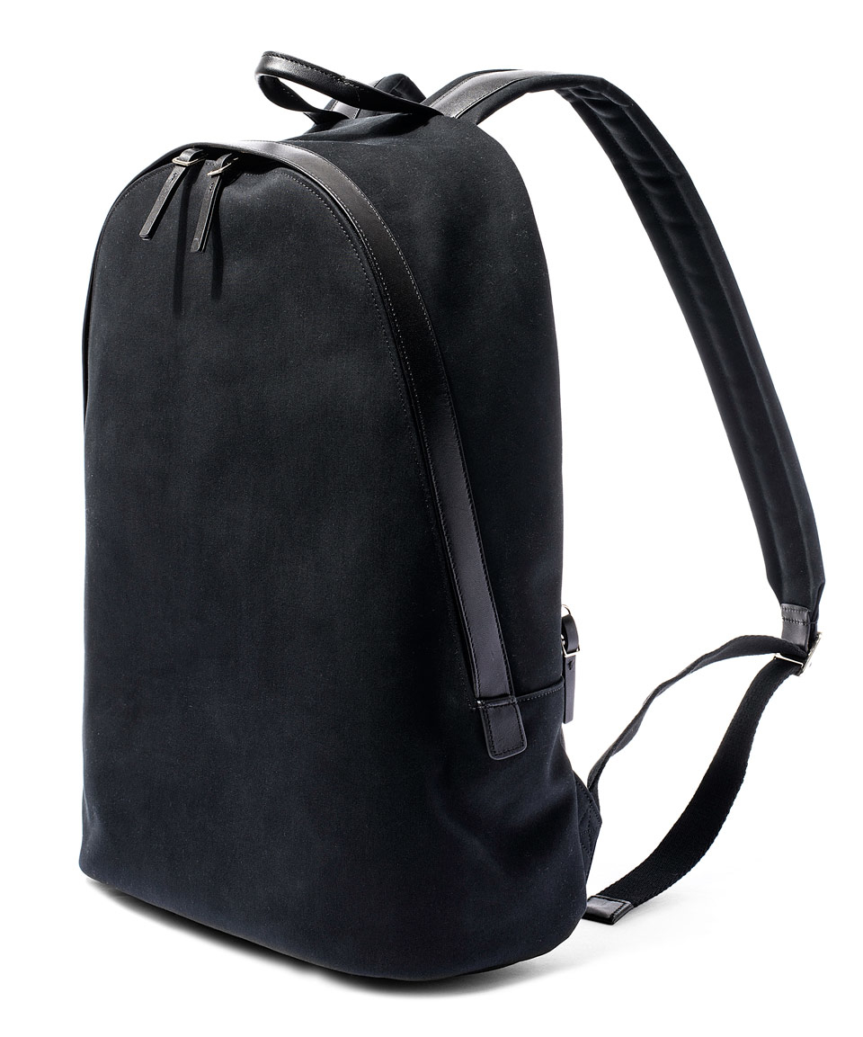Paul smith Black Canvas Backpack in Black for Men | Lyst