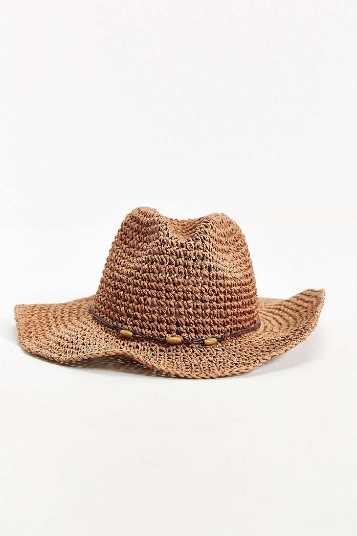 Lyst Urban Outfitters Knotted Straw Hat In Brown For Men