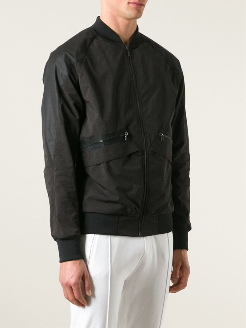 OAMC Zipped Bomber Jacket in Black for Men
