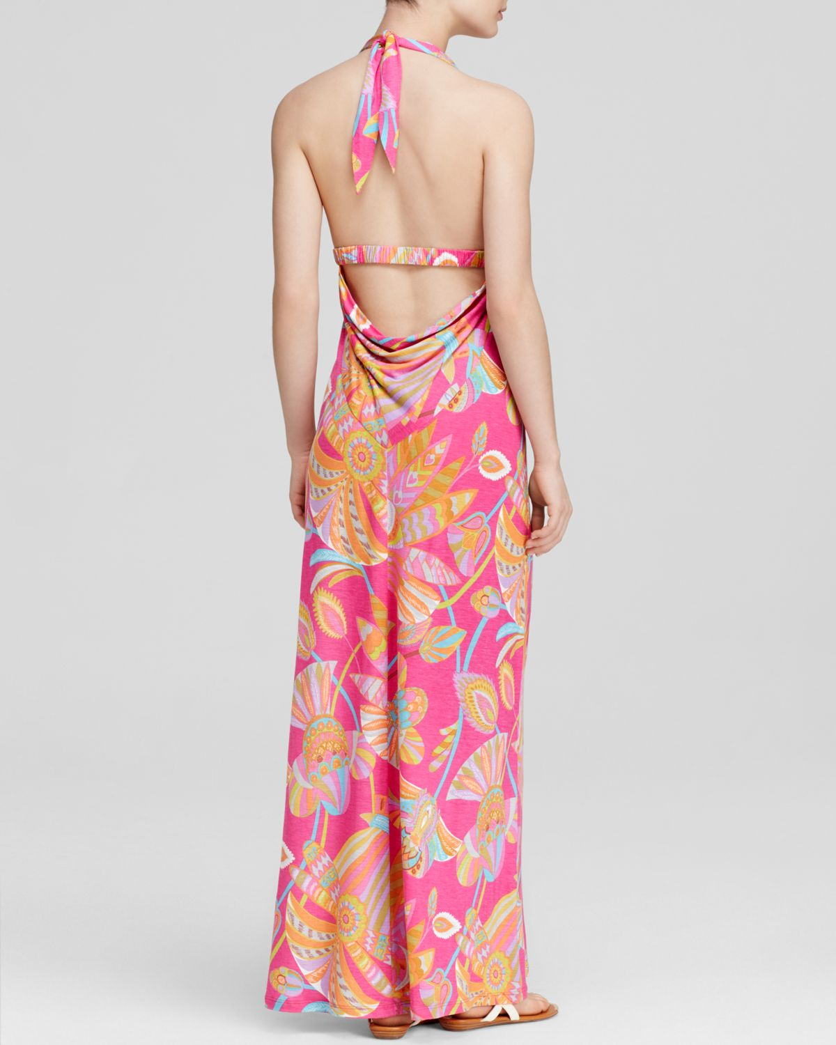 4615b0c9ad Trina Turk Maxi Dress - Biscayne Egyptian Floral in Pink - Lyst