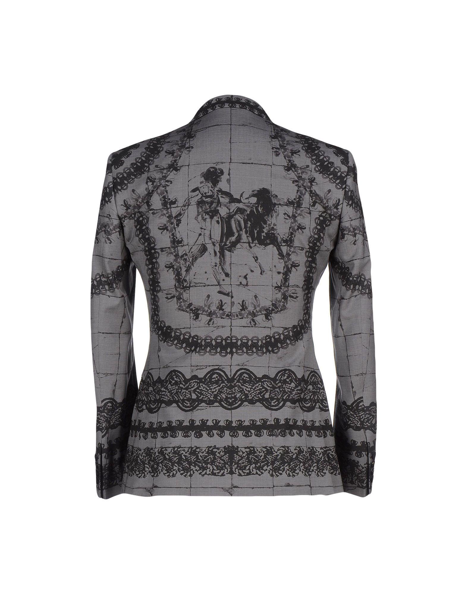 Lyst Dolce Amp Gabbana Blazer In Gray For Men