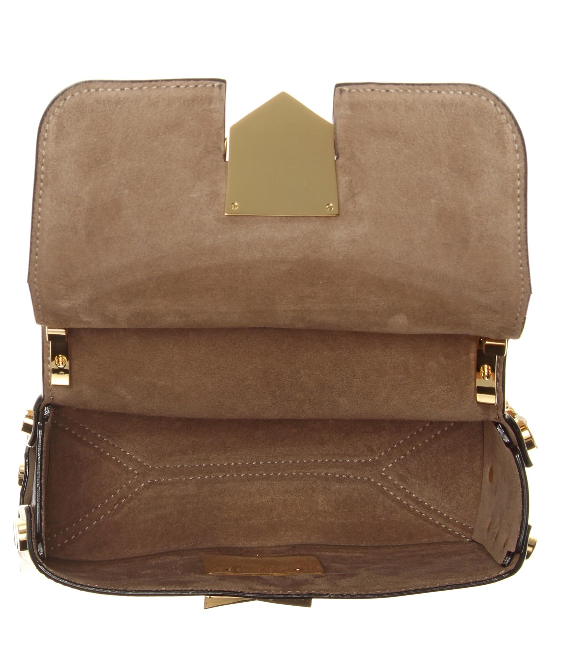 47b95be992b4 Lyst - Jimmy Choo Lockett Petite Leather Shoulder Bag in Black