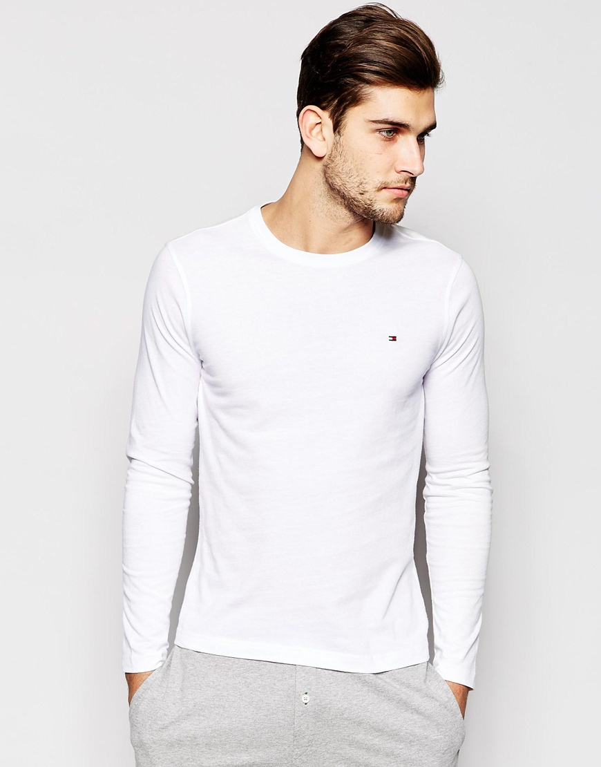 Manchester Great Sale Online Flag Long Sleeve Top In Organic Cotton In Muscle Fit - Black Tommy Hilfiger Free Shipping Shop Offer Outlet Cheap Quality 2AmqjWmm