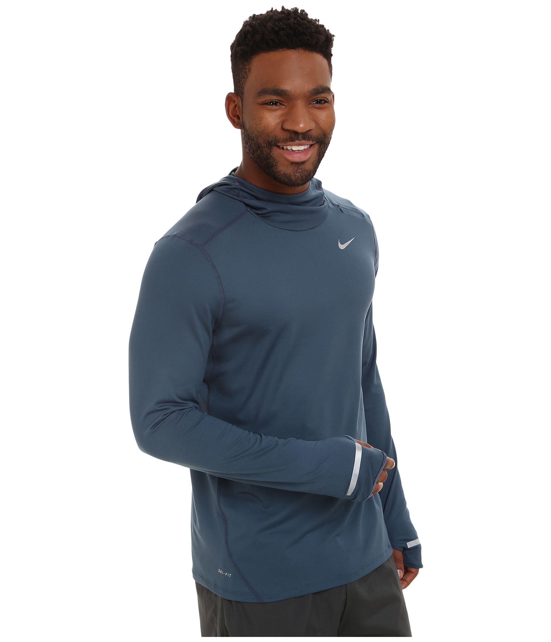 ae18b341895c Lyst - Nike Dri-fit™ Element Hoodie in Blue for Men