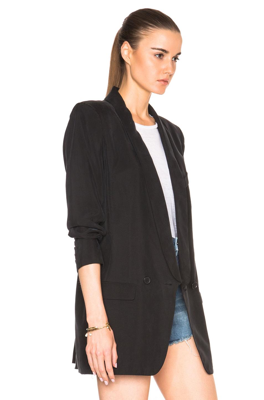Smythe Oversized Blazer In Black Lyst