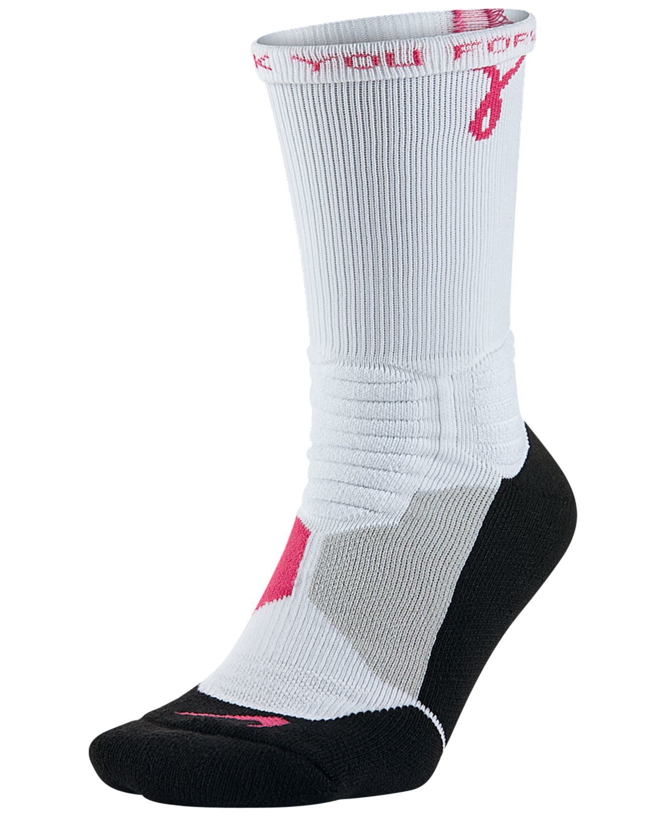Nike Men's Hyper Elite Basketball Crew Socks in Gray for ...