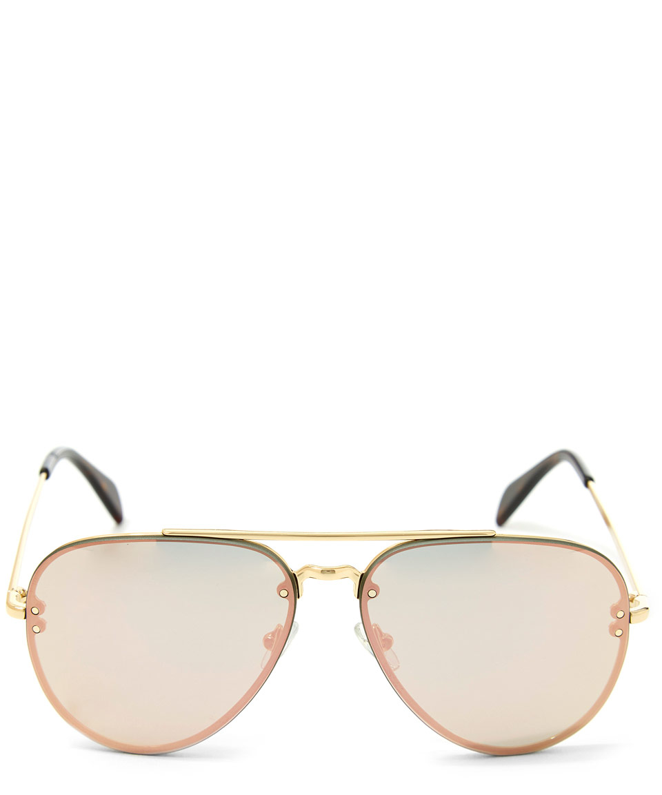 0dfa327734e3 Céline Gold Metal Aviator Sunglasses in Metallic - Lyst
