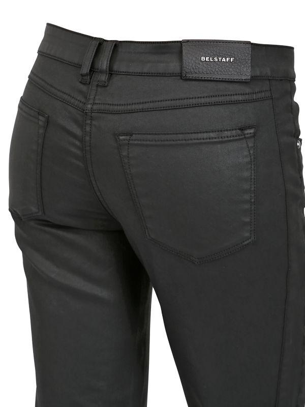 Belstaff Waxed Cotton Denim Jeans In Black For Men Lyst