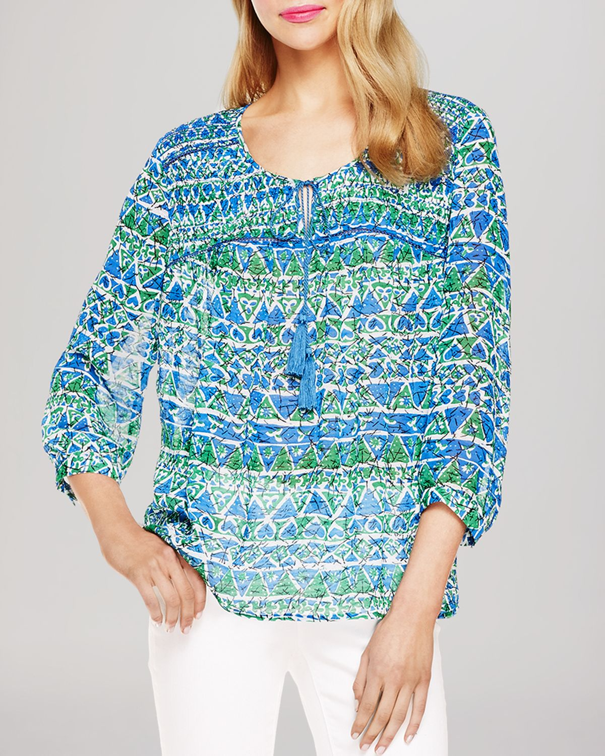75273eb6627 Two By Vince Camuto Silk Blouse