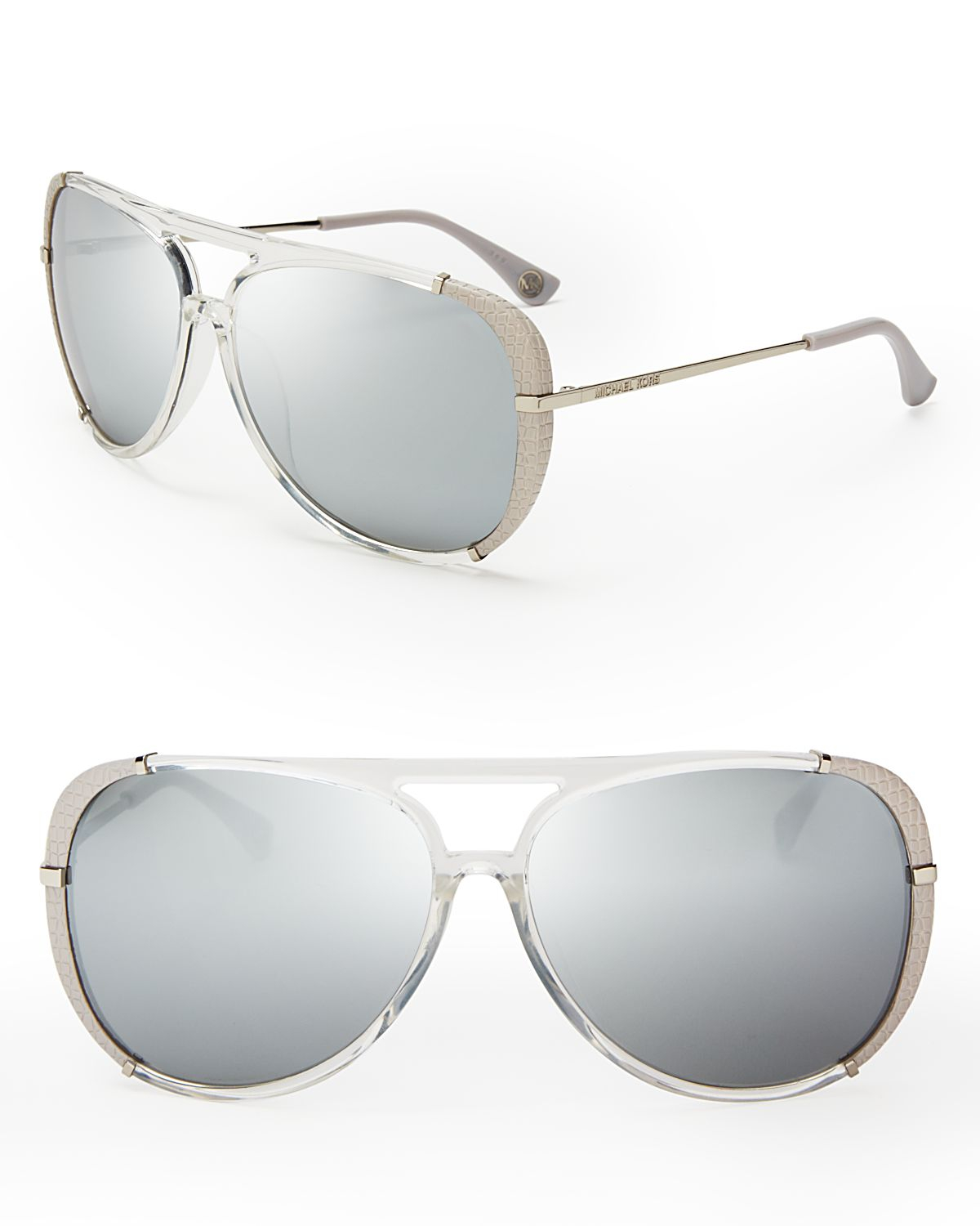 4367e7233abb Michael Kors Julia Aviator Sunglasses in Metallic - Lyst