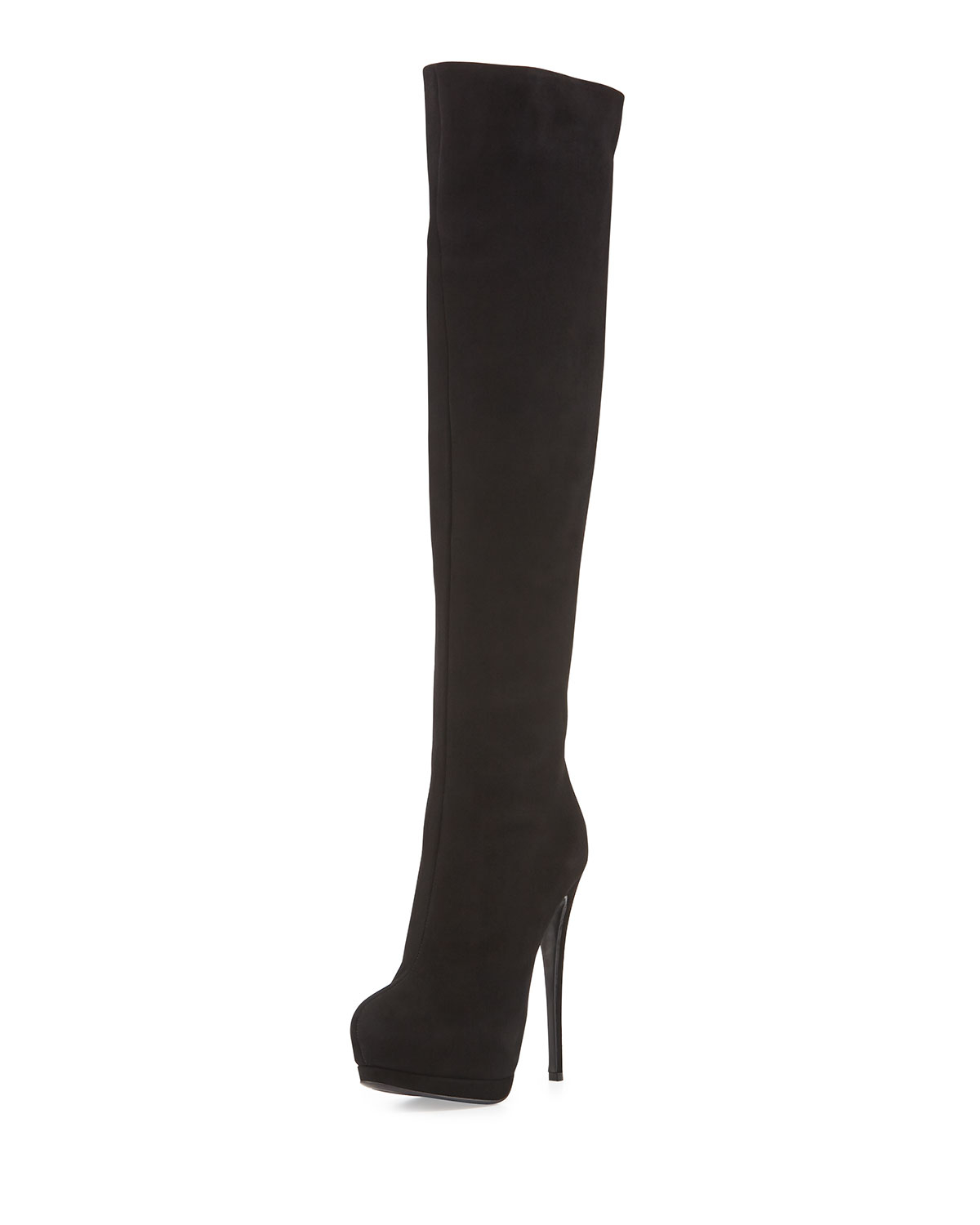 ebddf7585c2 Lyst - Giuseppe Zanotti Suede Over-The-Knee Platform Boot in Black