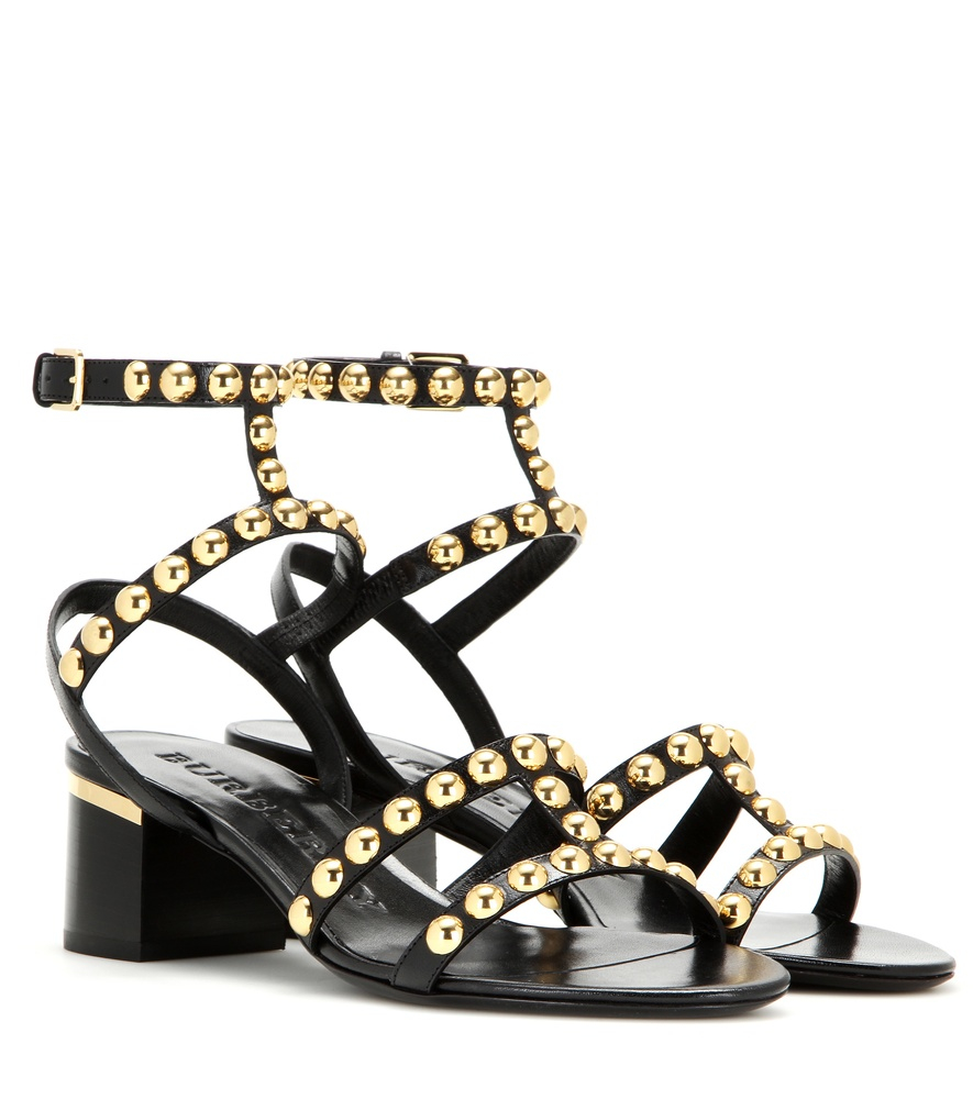 Burberry Embellished Leather Sandals cheap price fake rR3nriRw
