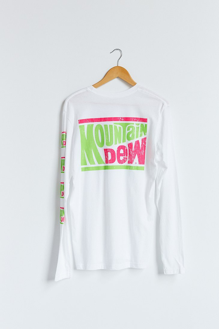 278f898bb Urban Outfitters Mountain Dew Long-Sleeve Tee in White for Men - Lyst