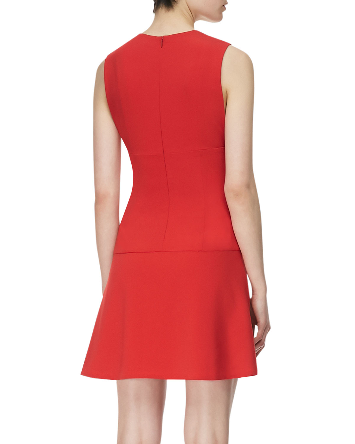 Thakoon Addition Sleeveless Plunging Open Front Dress In
