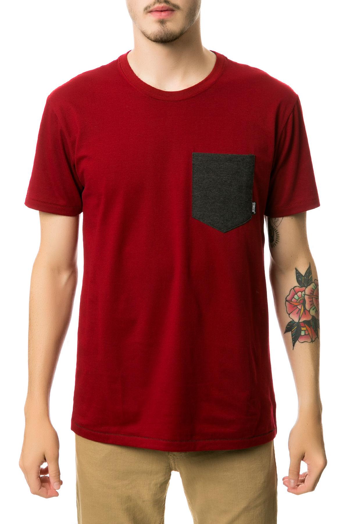 strata clothing maroon pocket premium maroon in