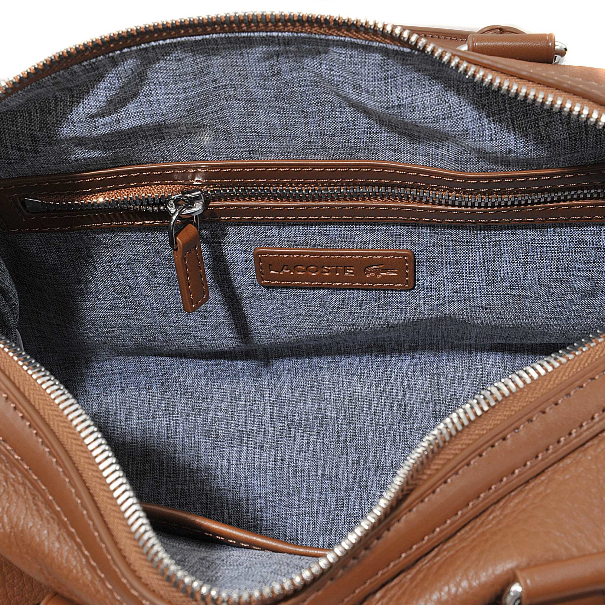 1c4ec57e22dfd Lyst - Lacoste Renée Medium Boston Bag in Brown