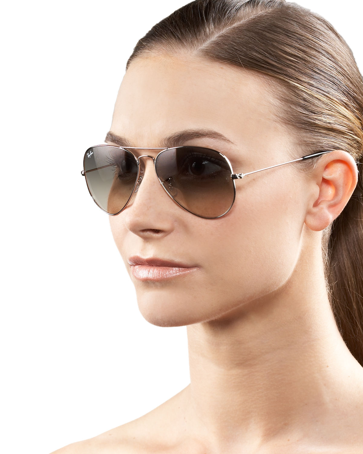 Ray Ban Classic Aviator Sunglasses In Brown Lyst