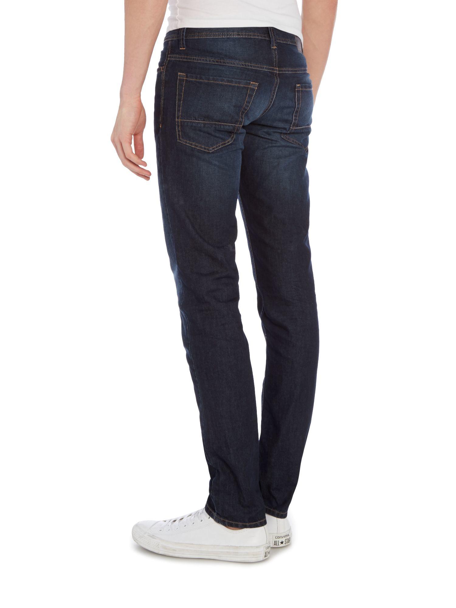 sisley men dark wash slim fit jeans in blue for men lyst. Black Bedroom Furniture Sets. Home Design Ideas