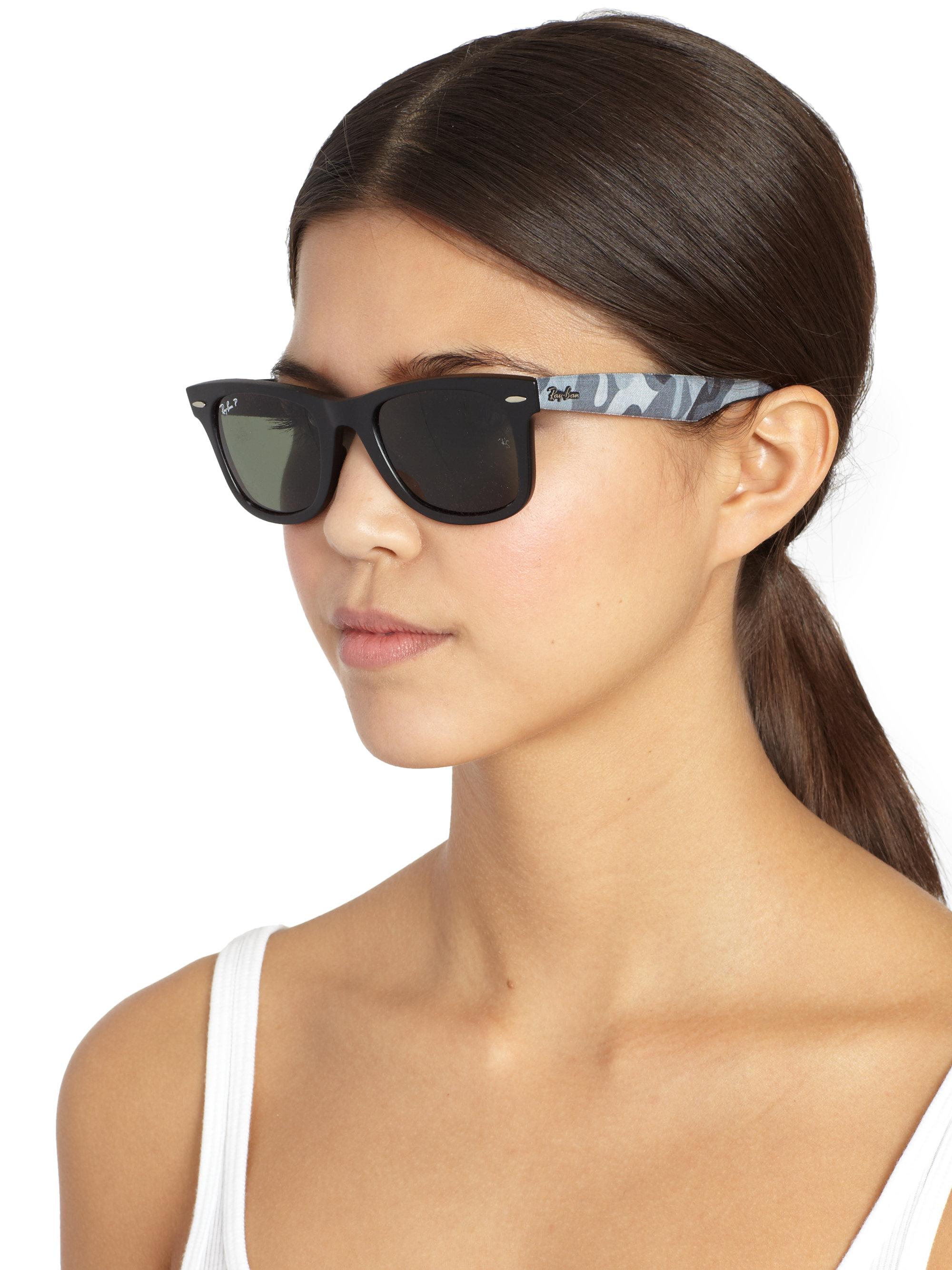 Maui Jim Warranty >> Ray-Ban Wayfarer Camo Sunglasses in Blue - Lyst