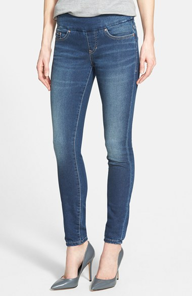 Jag jeans u0026#39;norau0026#39; Pull-on Stretch Knit Skinny Jeans in Blue   Lyst