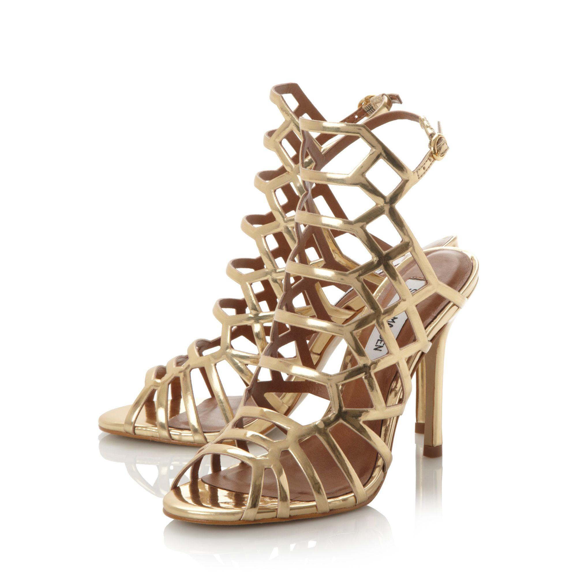 Gold Caged Heels - Is Heel
