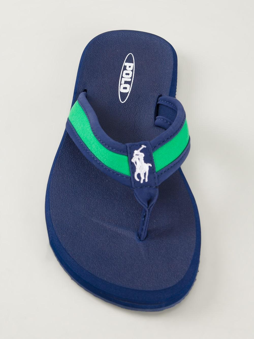 c0c9a677645 Lyst - Polo Ralph Lauren Almer Flip Flops in Green for Men