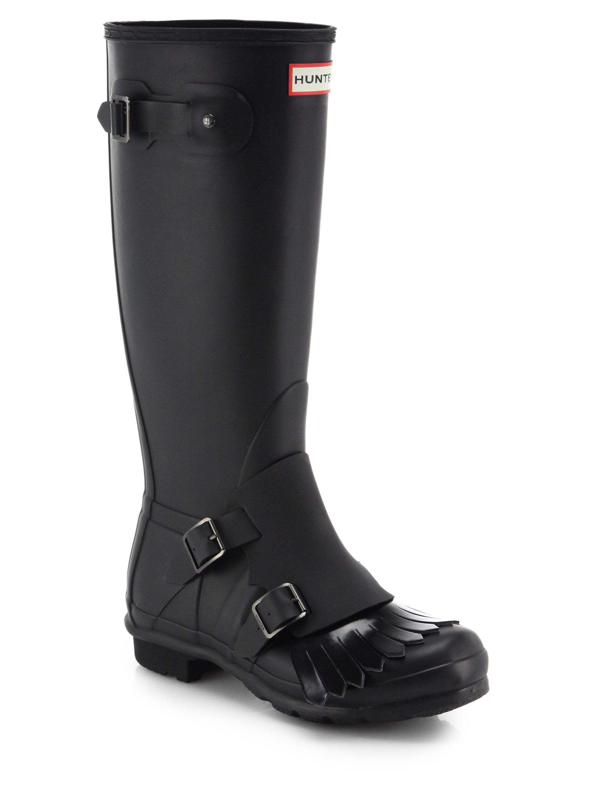 Lyst Hunter Original Monk Strap Rain Boots In Black