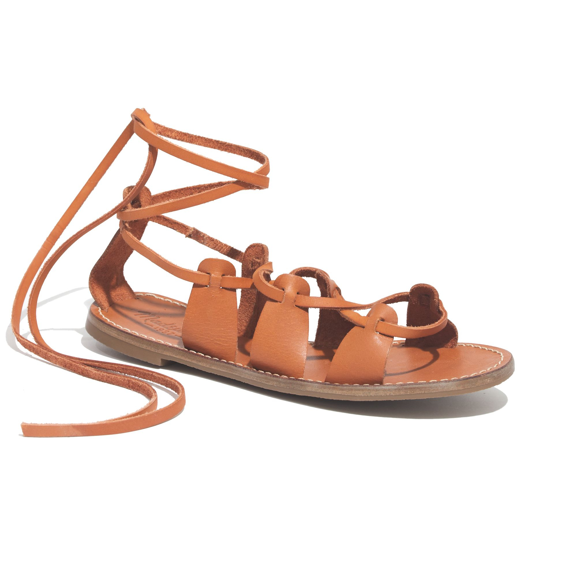 5d131d3f38a Lyst - Madewell The Gladiator Sightseer Sandal in Brown