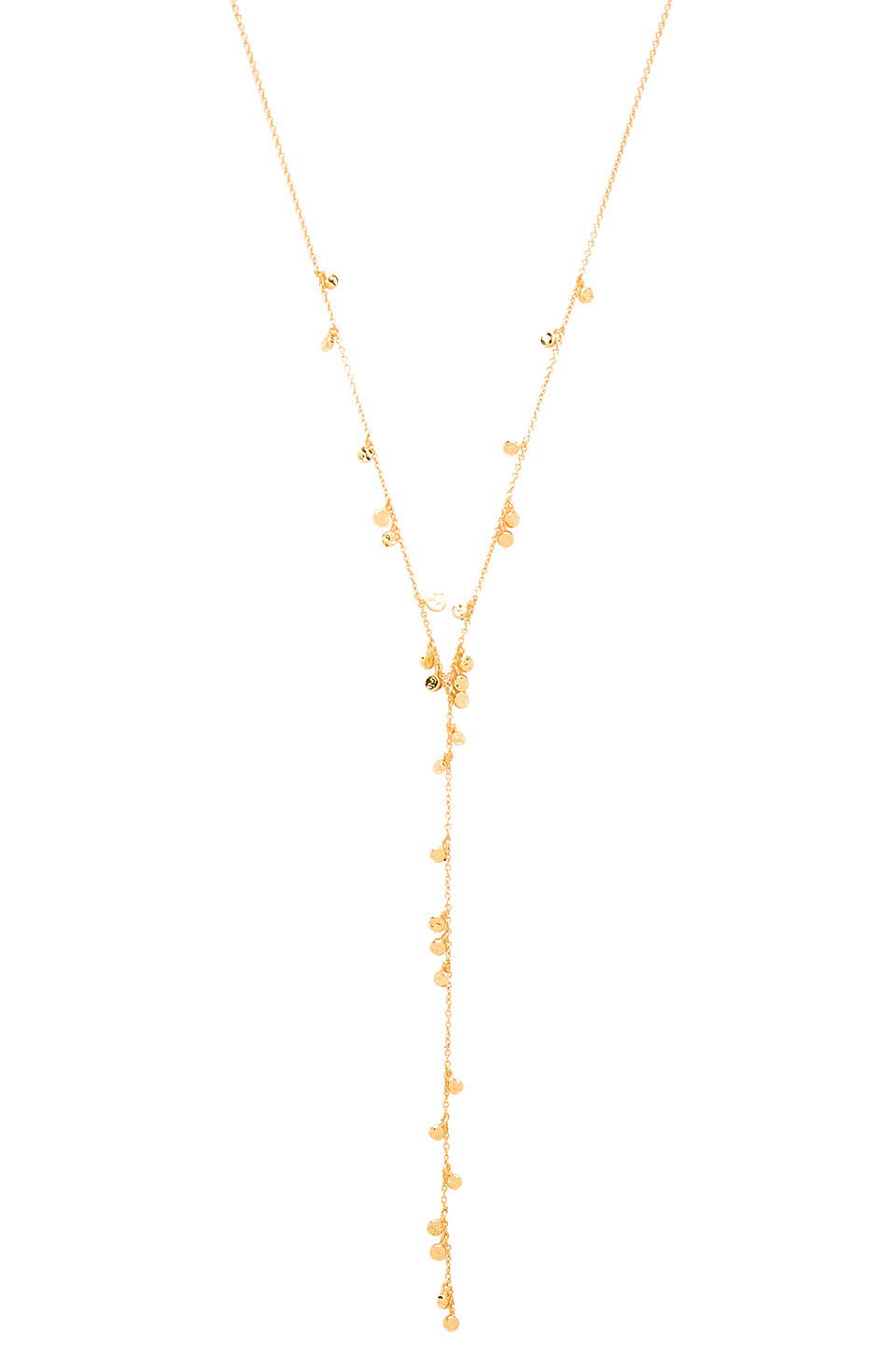 Gorjana Chloe Mini Lariat in Gold (Metallic)