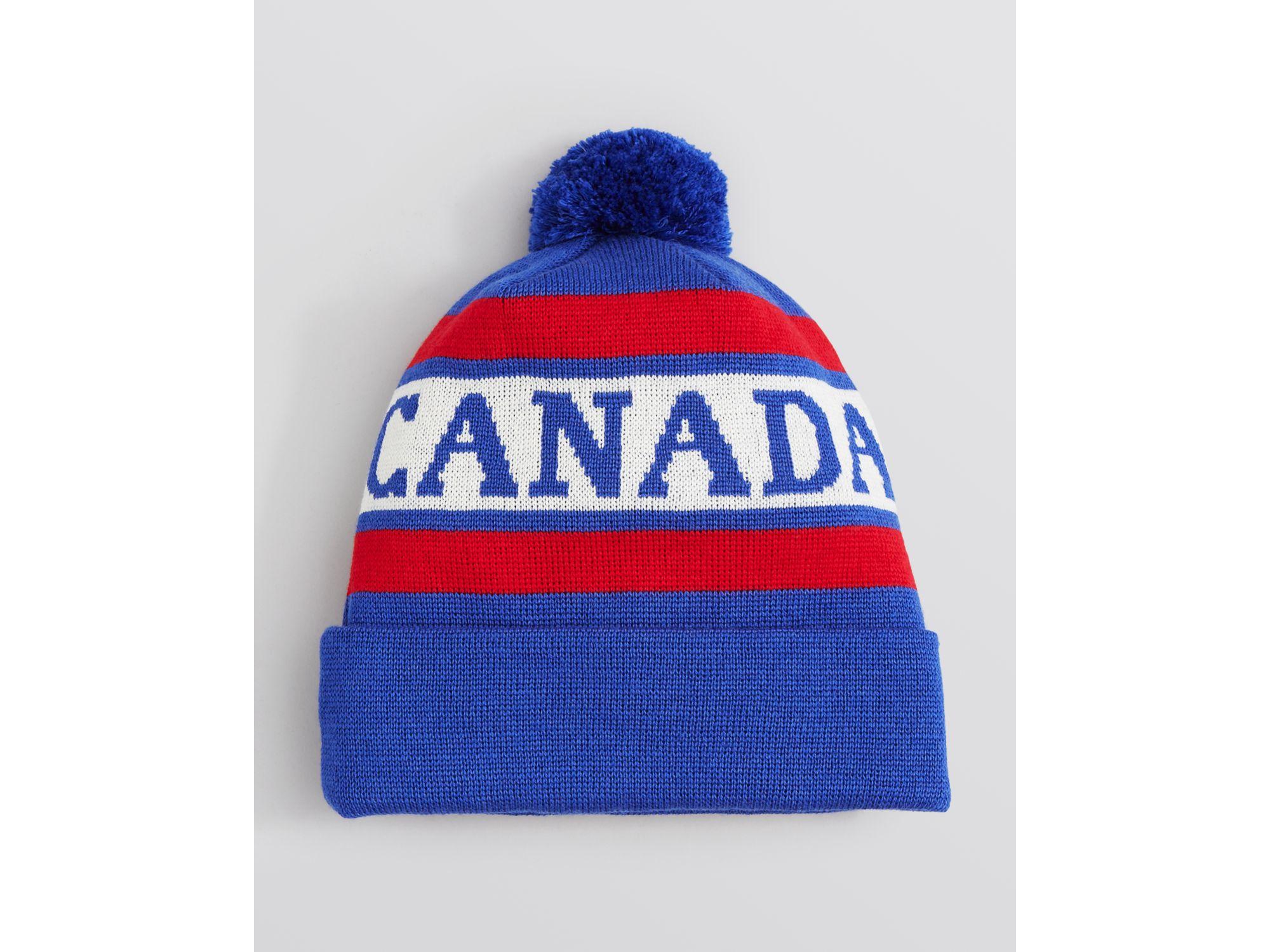 54f1c99ae0b Lyst - Canada Goose Logo Pom Pom Hat in Blue for Men