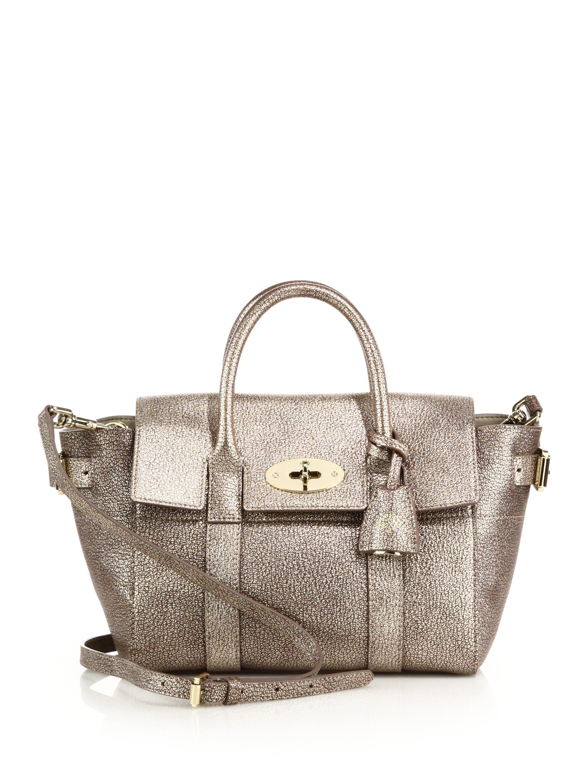 fa8605283e13 ... official store lyst mulberry mini bayswater buckle in metallic 91efc  0db61
