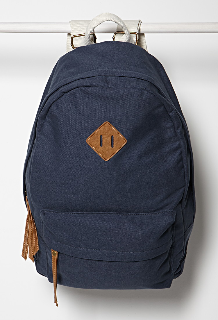 Lyst - Forever 21 Classic Canvas Backpack in Blue 08f9e5cd32d2d