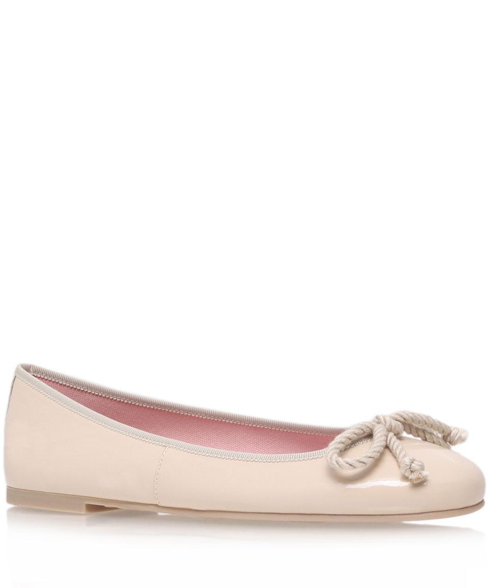 pretty nice 525f3 3ddf0 Pretty Ballerinas Nude Ami Patent Ballerina Flats in Natural ...